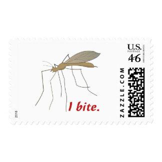 funny i bite mosquito design postage