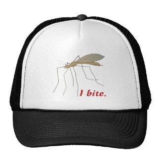 funny i bite mosquito design trucker hat