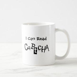 Funny I Can Read Captcha In Black and White Coffee Mug