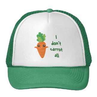 Funny I don't Carrot All Food Pun Humor Cartoon Trucker Hat
