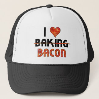 Funny I Don't Love Baking, I Love Bacon Trucker Hat