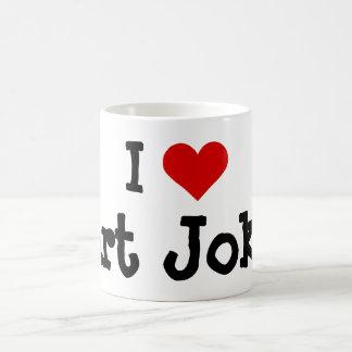 Funny I heart Fart Jokes Coffee Mug