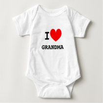 Funny I heart grandma infant bodysuit | Kids joke