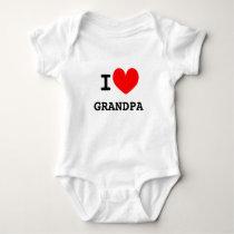 Funny I heart grandpa infant bodysuit for babies