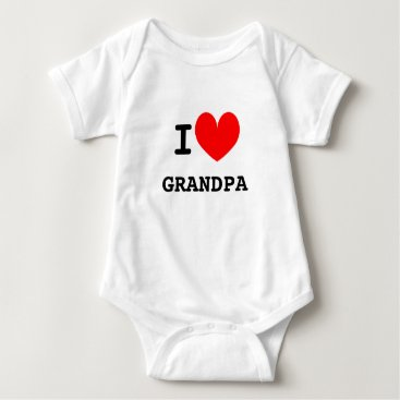 Toddler & Baby themed Funny I heart grandpa infant bodysuit for babies