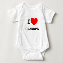 Funny I heart grandpa infant bodysuit | Kids joke