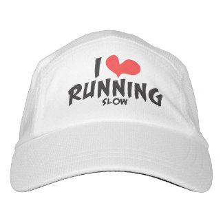 Funny I heart (love) Running SLOW Headsweats Hat