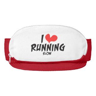 Funny I heart (love) Running SLOW Visor