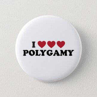 Funny I Heart Polygamy Pinback Button
