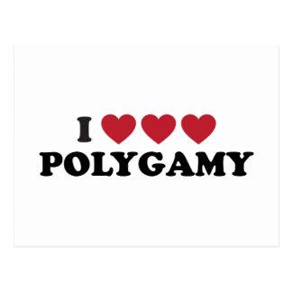 Funny I Heart Polygamy Postcard