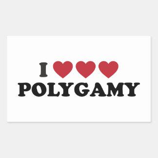 Funny I Heart Polygamy Rectangular Sticker