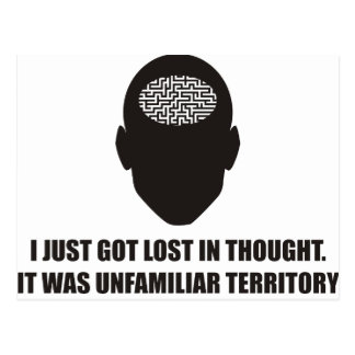 Funny - I just got lost in thought Postcard