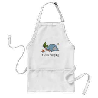 Funny I Love Camping Adult Apron