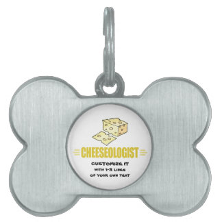 Funny I Love Cheese Pet ID Tag