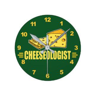 Funny I Love Cheese Round Clock