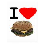 Funny I Love Cheeseburgers Postcard
