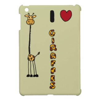 Funny I Love Giraffes cartoon iPad Mini Covers