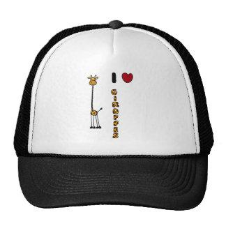 Funny I Love Giraffes cartoon Trucker Hat