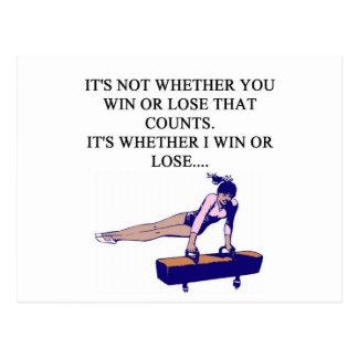 funny i love gymastics design for gymnasts postcard