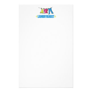 Funny I Love Laundry Personalized Stationery