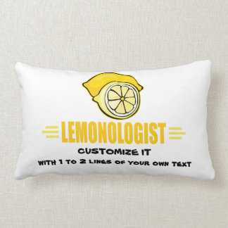 Funny I Love Lemons Lumbar Pillow