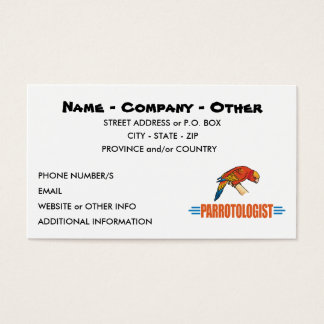 Funny I Love Parrots Business Card