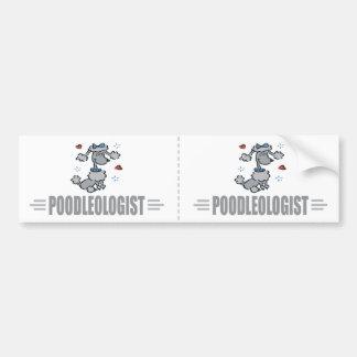 Funny I Love Poodles Bumper Sticker