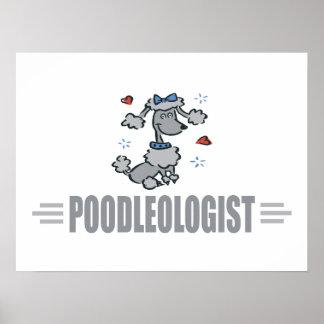Funny I Love Poodles Poster