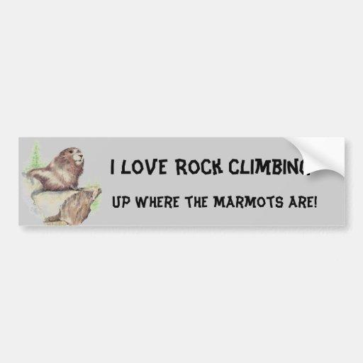 Funny I love Rock Climbing, Sport, Marmot, Nature Bumper Stickers