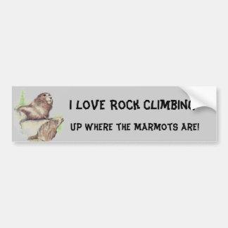 Funny I love Rock Climbing, Sport, Marmot, Nature Car Bumper Sticker