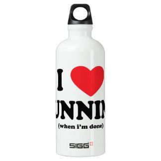 funny i love running aluminum water bottle