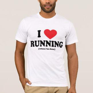 funny i love running tee