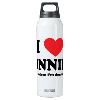 funny i love running thermos bottle