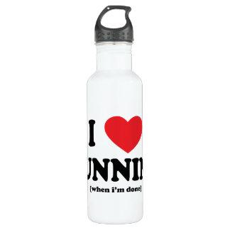funny i love running water bottle