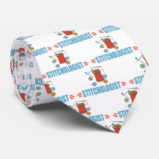 Funny I Love Sewing Neck Tie