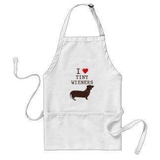 Funny I Love Tiny Wiener Dachshund Apron