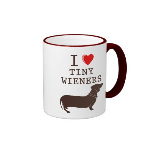 Funny I Love Tiny Wiener Dachshund Coffee Mugs Zazzle