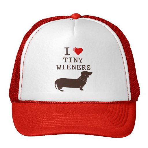 Funny I Love Tiny Wiener Dachshund Hat