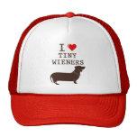 Funny I Love Tiny Wiener Dachshund Trucker Hat