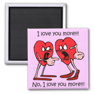 Funny I love you 2 Inch Square Magnet