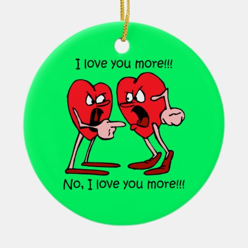 Funny I love you Christmas Ornaments