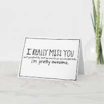 Funny I Miss You Card-Missing You Card