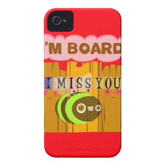Funny I Miss You I am Bored iPhone 4 Cover