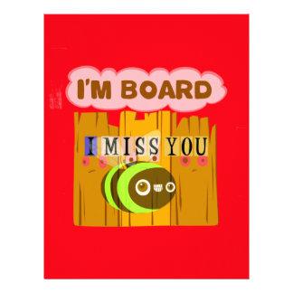 Funny I Miss You I am Bored Letterhead
