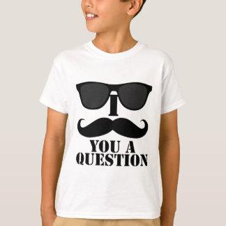 Funny I Moustache You A Question Black Sunglasses T-Shirt