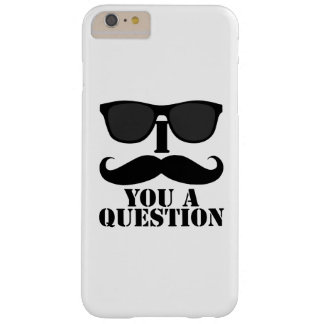 Funny I Mustache You A Question Black Sunglasses Barely There iPhone 6 Plus Case