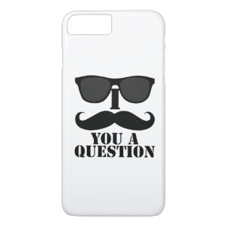 Funny I Mustache You A Question Black Sunglasses iPhone 8 Plus/7 Plus Case