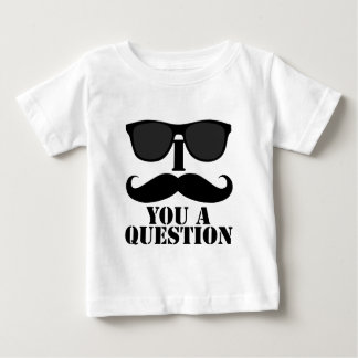 Funny I Mustache You A Question Black Sunglasses T Shirt
