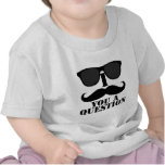 Funny I Mustache You A Question Black Sunglasses Tee Shirts