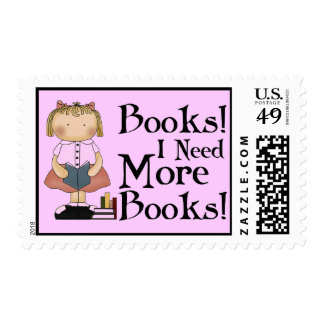 Funny I Need More Books Stamps Gift